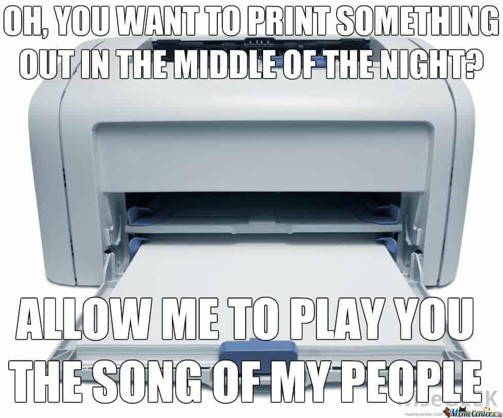 printer werkt niet