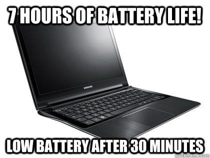 laptop batterij